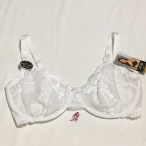 4684dc6670dc0 White Luxe Lace Unlined Underwire Bra. NWT